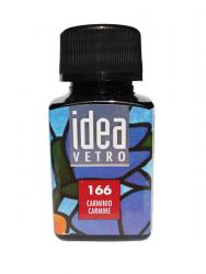 Glass Farbe IDEA VETRO Carmine. ( Rot )60 ml. 166