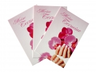 30 appointment cards, orchid